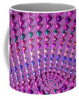 Pink And Purple Fractal Crochet Ornaments Coffee Mug
