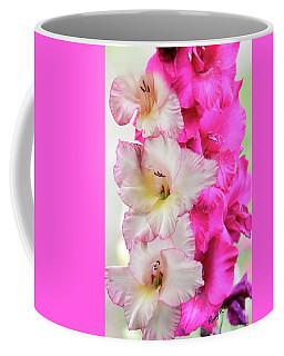 Pink And Red Gladiolas. Coffee Mug