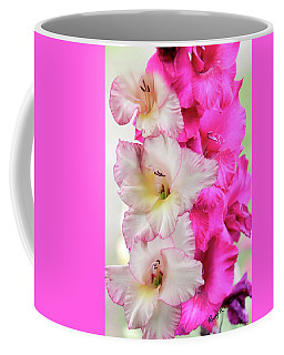 Pink And Red Gladiolas. Coffee Mug