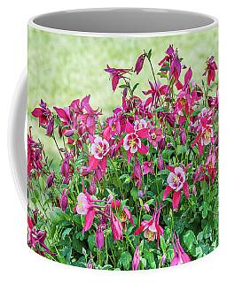 Pink And White Columbine Coffee Mug