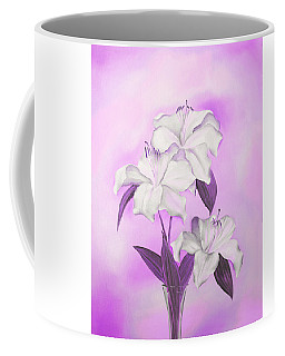 Pink And White Coffee Mug