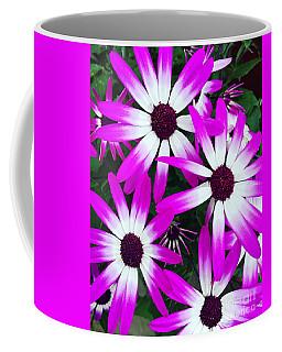 Pink And White Flowers Coffee Mug by Vizual Studio