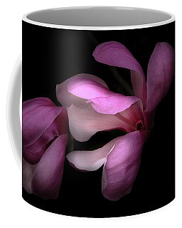 Pink And White Magnolia In Silhouette Coffee Mug