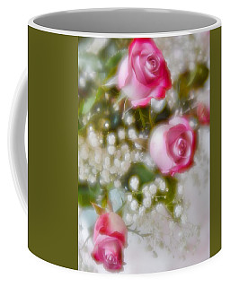 Coffee Mug featuring the photograph Pink And White Rose Bouquet by Diane Alexander