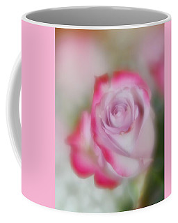 Coffee Mug featuring the photograph Pink And White Rose  by Diane Alexander