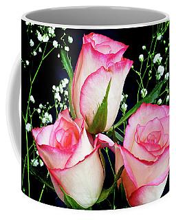 Pink And White Roses Coffee Mug