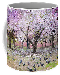 Coffee Mug featuring the photograph Pink And White Spring Blossoms - Boston Common by Joann Vitali