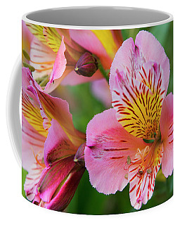 Pink And Yellow Flora Coffee Mug