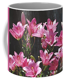 Pink Asiatic Lilies Coffee Mug