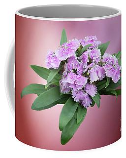 Pink Blooming Plant Coffee Mug by Linda Phelps