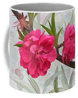 Coffee Mug featuring the painting Hot Pink Blossom by Ivana Westin