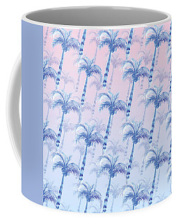 Pink Blue Palm Tree Grove Coffee Mug