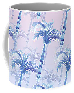 Pink Blue Palm Tree Grove Coffee Mug