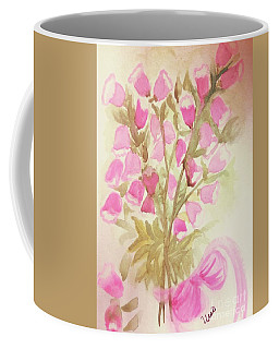 Coffee Mug featuring the painting Pink Capunella by Maria Urso