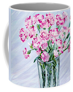 Pink Carnations In A Vase. For Sale Coffee Mug