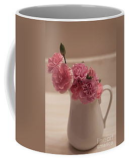 Pink Carnations Coffee Mug by Sherry Hallemeier