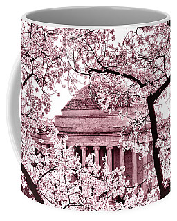 Pink Cherry Trees At The Jefferson Memorial Coffee Mug