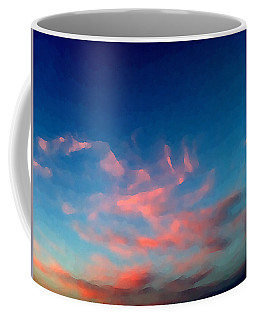 Pink Clouds Abstract Coffee Mug