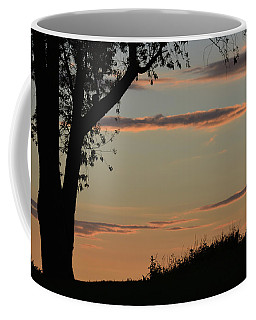 Pink Clouds And Tree Coffee Mug