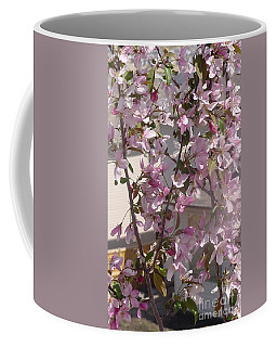 Pink Crabapple Branch Coffee Mug
