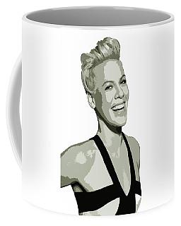 Pink Cutout Art Coffee Mug