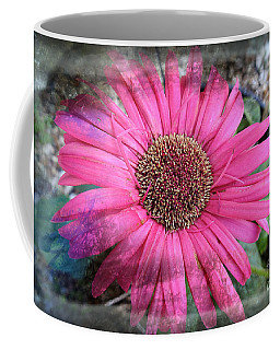 Coffee Mug featuring the photograph Pink Daisy Makeup by Ella Kaye Dickey