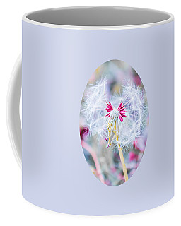 Coffee Mug featuring the photograph Pink Dandelion by Parker Cunningham