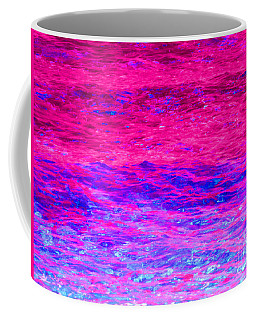 Pink Fantasy Waters Abstract Coffee Mug