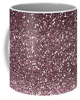 Pink Faux Glitter Ombre Coffee Mug by Ps