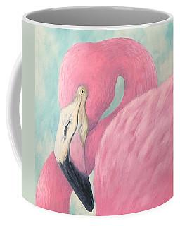 Pink Flamingo V Coffee Mug