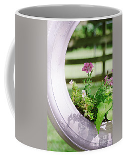 Coffee Mug featuring the photograph Pink Floral 2 by Andrea Anderegg