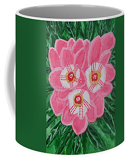 Coffee Mug featuring the painting Pink Orchid by Magdalena Frohnsdorff