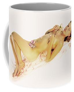 Pink Flower Petals Coffee Mug