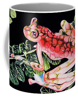 Pink Frog Coffee Mug by Hye Ja Billie