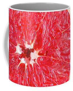Pink Grapefruit Coffee Mug by Teri Virbickis