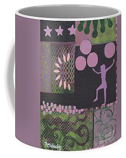 Pink Green Purple Abstract Coffee Mug