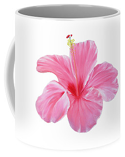 Coffee Mug featuring the painting Pink Hibiscus by Elizabeth Lock