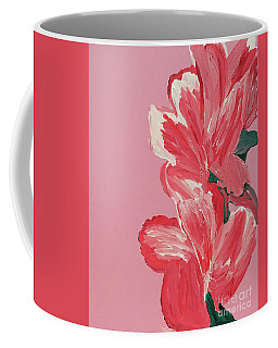 Pink Hibiscus Flowers  Coffee Mug