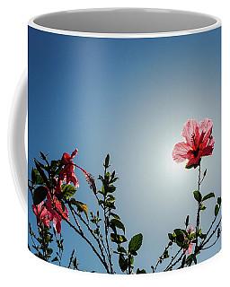 Pink Hibiscus Flowers Coffee Mug