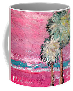 Pink Horizon Palms Coffee Mug
