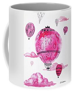 Pink Hot Air Baloons Coffee Mug