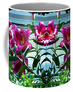Pink Lilies Fusion Coffee Mug by Will Borden