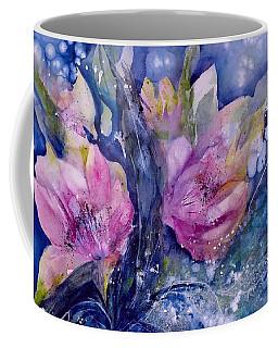 Pink Lilies In Vase Coffee Mug