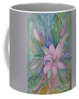 Pink Lily- Painting Coffee Mug