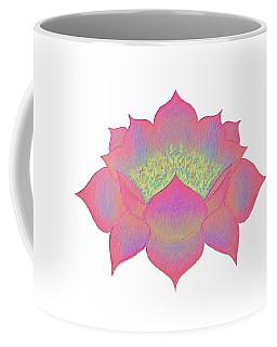 Coffee Mug featuring the painting Pink Lotus by Elizabeth Lock