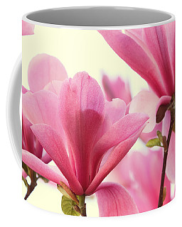 Pink Magnolias Coffee Mug by Peggy Collins
