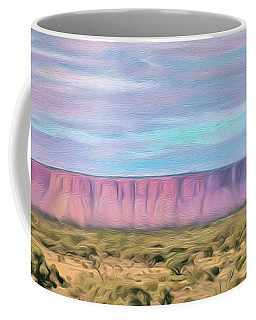 Pink Mesa Coffee Mug by Walter Colvin