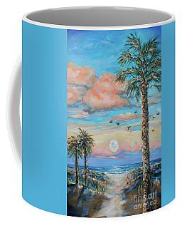 Pink Moon Rise Coffee Mug by Linda Olsen