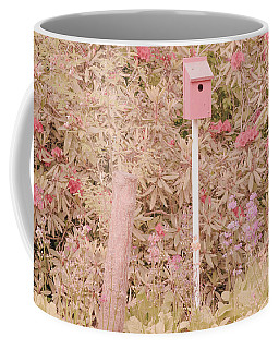 Coffee Mug featuring the photograph Pink Nesting Box by Bonnie Bruno