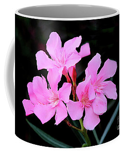 Coffee Mug featuring the photograph Pink Oleander by Mariarosa Rockefeller